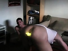 Ass toying and jerking off in hazing..